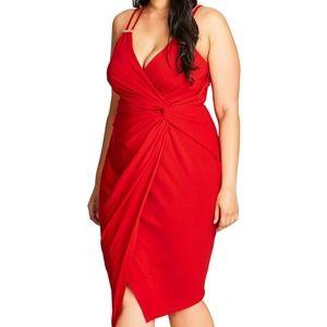 City Chic NWT So Seductive Faux Wrap Dress
